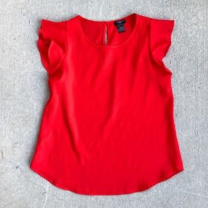 Ann Taylor Red Blouse, Size S PETITE
